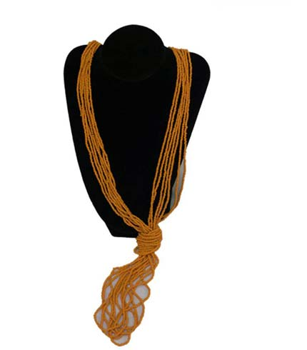 Beaded Necklace - Yellow