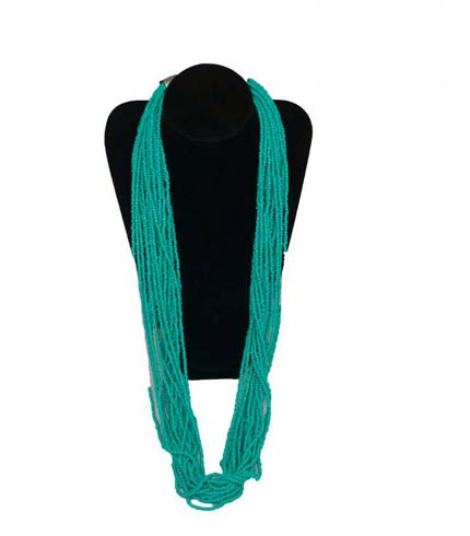 Sea Blue Beaded Necklace