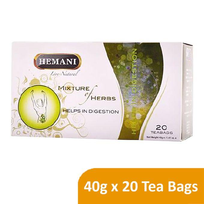 Hemani Live Natural Mixture of Herbs Tea - Digestion - 40g x 20 Tea Bags