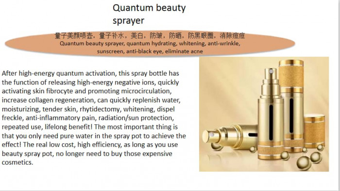 Quantum beauty spray