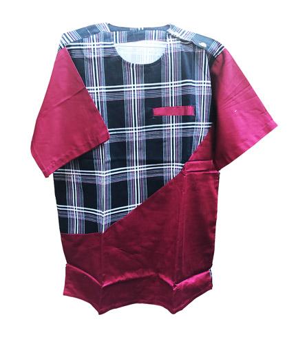 African Print Shirt - Pink & Black