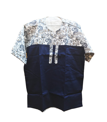 African Print Shirt - Dark Blue