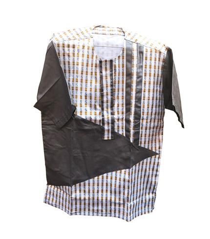 African Print Shirt - Dark Green Design