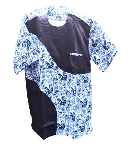 Blue African Print Shirt