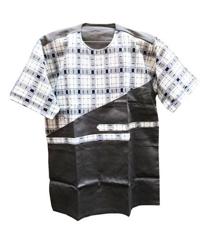 African Print Shirt - Black Design