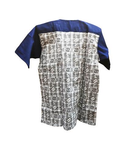 Blue Design African Print Shirt