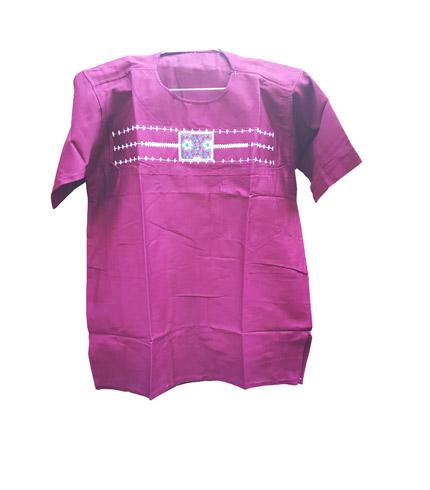 African Print Shirt - Violet