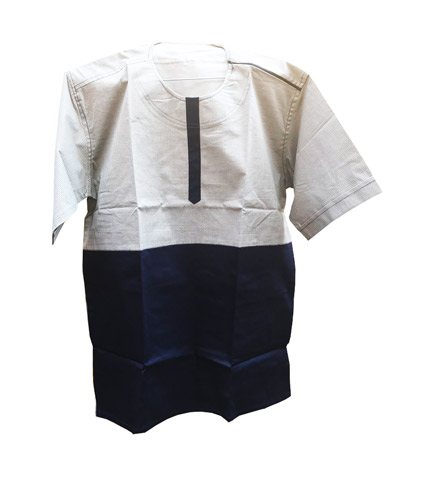 African Print Shirt - Black & Cream