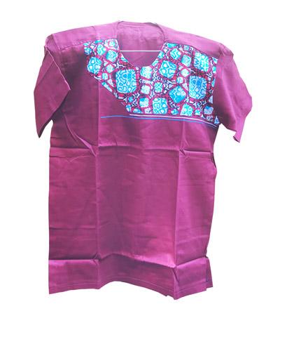 African Print Shirt - Violet Design
