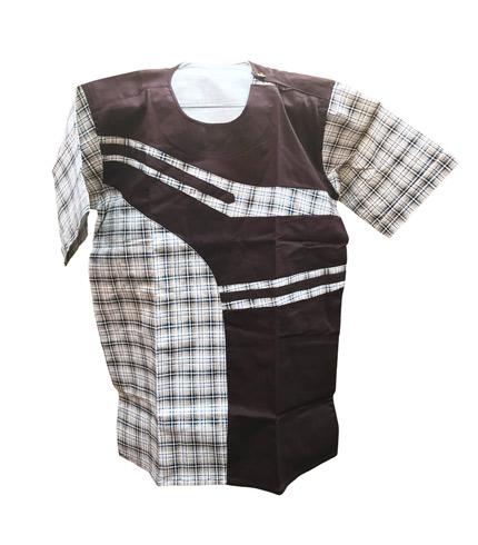 African Print Shirt - Brown