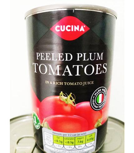 Cucina Peeled Plum Tomatoes