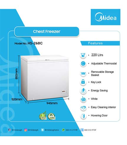 Midea 220Ltr Chest Freezer