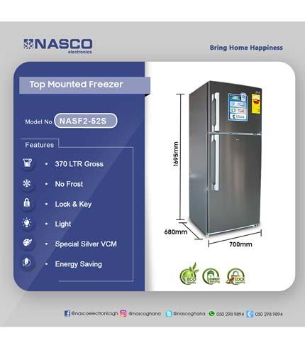 Nasco 430Ltr Top Mount Refrigerator