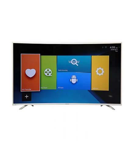 "Nasco 55"" Uhd 4K Digital Satellite Smart Curve Tv"