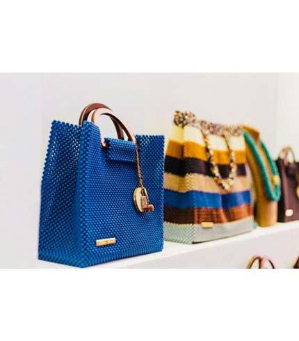 Blue Beaded Designer Ladies Bag