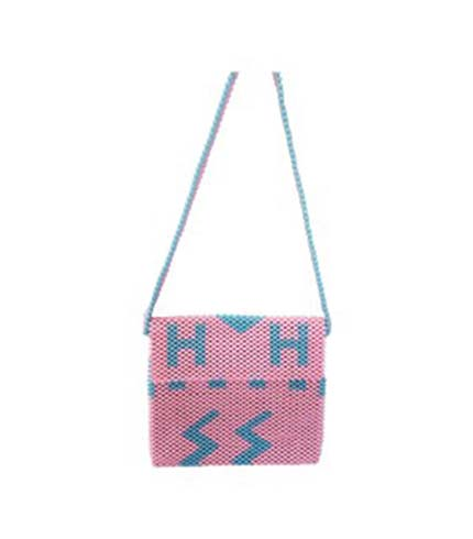 Pink Beaded Ladies Bag