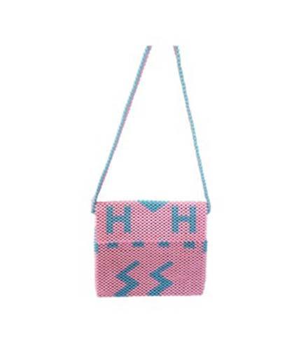 Pink Beaded Ladies Bag