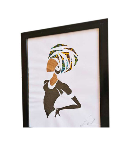 Mama Africa with African Print Artwork