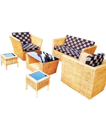 Durable woven living furniture