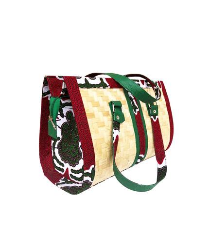 Red & Green Bamboo Ladies Bag
