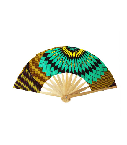 Bamboo Hand Fan - Green