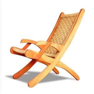 Wooden woven chair