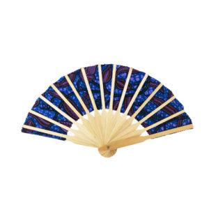 Blue Bamboo Hand Fan