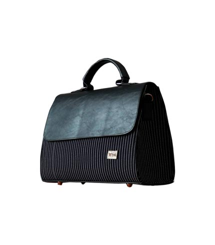 Black Smock Designed Ladies Bag