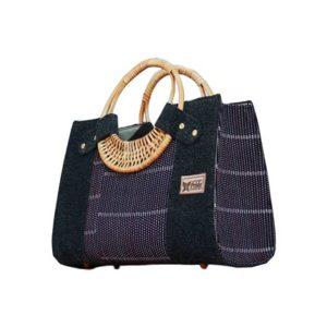 Purple Smock Designed Ladies Bag