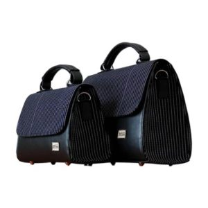 Smock Designed Ladies Bag - Black