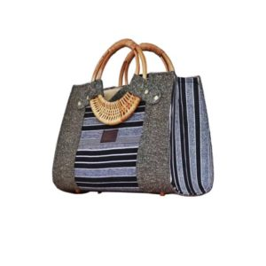 Grey Smock Designed Ladies Bag