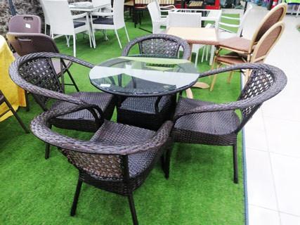 Coffee Brown Garden Furniture Set