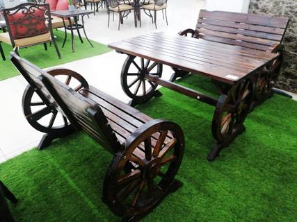 Garden Furniture Set - Coffee Brown