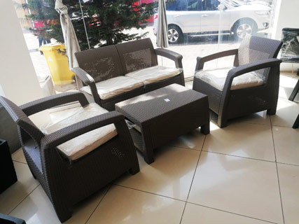 Brown Garden Furniture Set