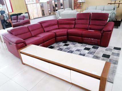Red Leather Furniture Set