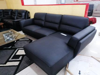 Leather Furniture Set - Black