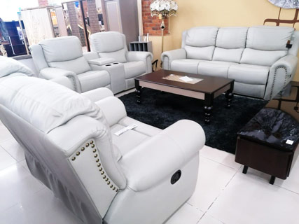 White - Leather Furniture Set