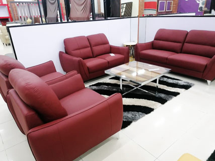 Leather Furniture Set - Red