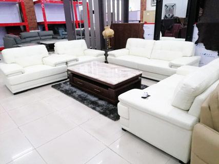 Leather Furniture Set (White)