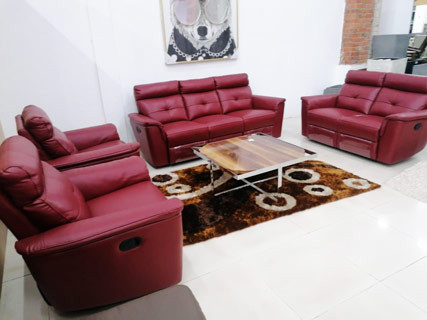Leather Furniture Set (Red)