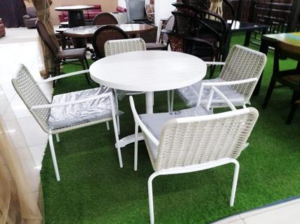 White Garden Furniture Set
