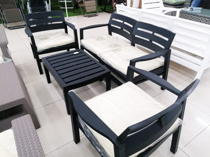 Black Garden Furniture Set
