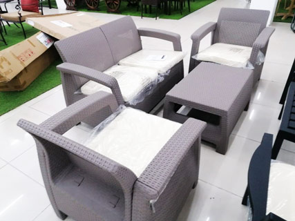 Dull Brown Garden Furniture Set