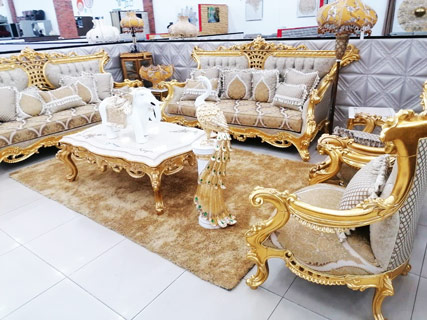 Gold & Brown Furniture Set