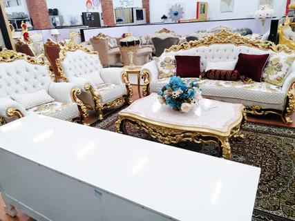 Gold & White Furniture Set
