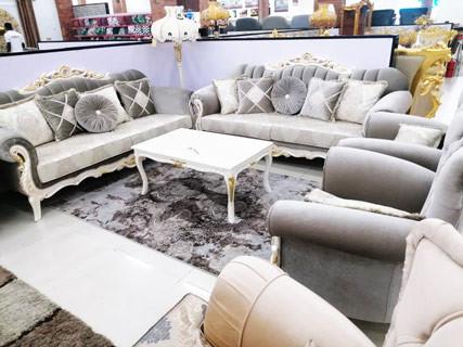 Grey Living Room Furniture Set