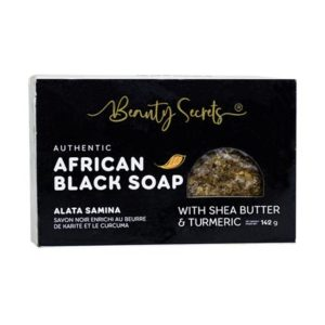 African Black Soap With Shea Butter & Turmeric Bar