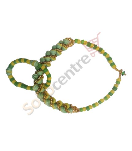 Green Beaded Necklace and Bracelet