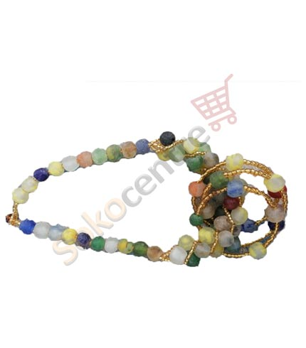 Multicoloured Beaded Necklace and Bracelet