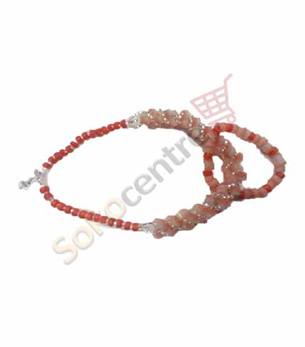 Pink Beaded Necklace and Bracelet